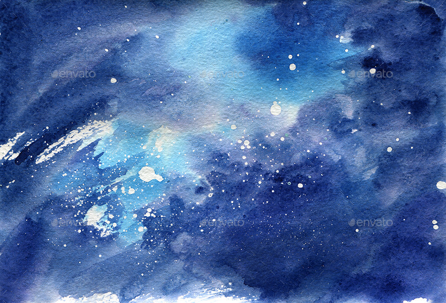 Space Watercolor Background By Dlinnychulok Graphicriver