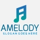 A Music Melody Letter Logo