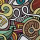 2 Social Doodles Seamless Pattern
