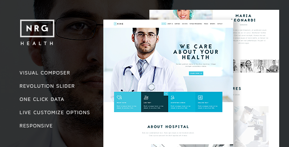 NRG Hospital - One & Multi page Health Theme