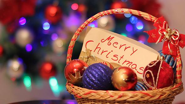 Merry Christmas Colorfull Balls