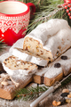 Stollen.Traditional German Christmas cake
