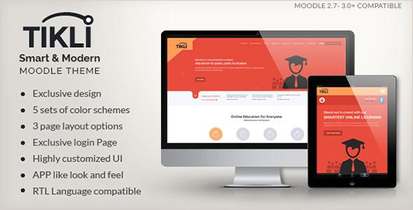 TIKLI - Responsive Moodle Theme