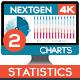 4K NextGen Resizable Statistics Charts & Infographics Pack Two
