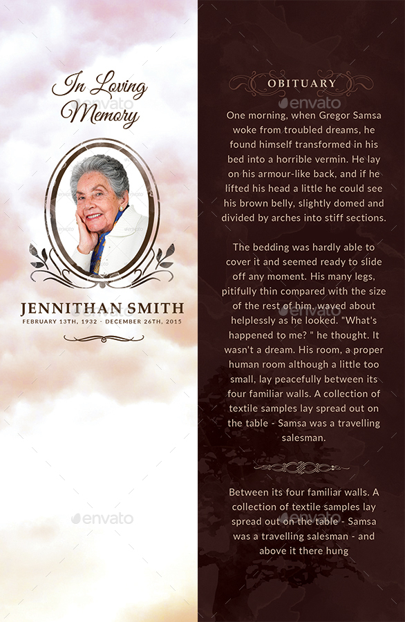 Loving memory funeral print templates combo set by creativesource online for In loving memory templates free