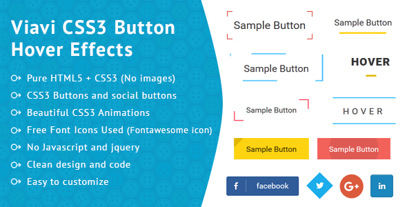 Viavi CSS3 Button Hover Effect - CodeCanyon Item for Sale