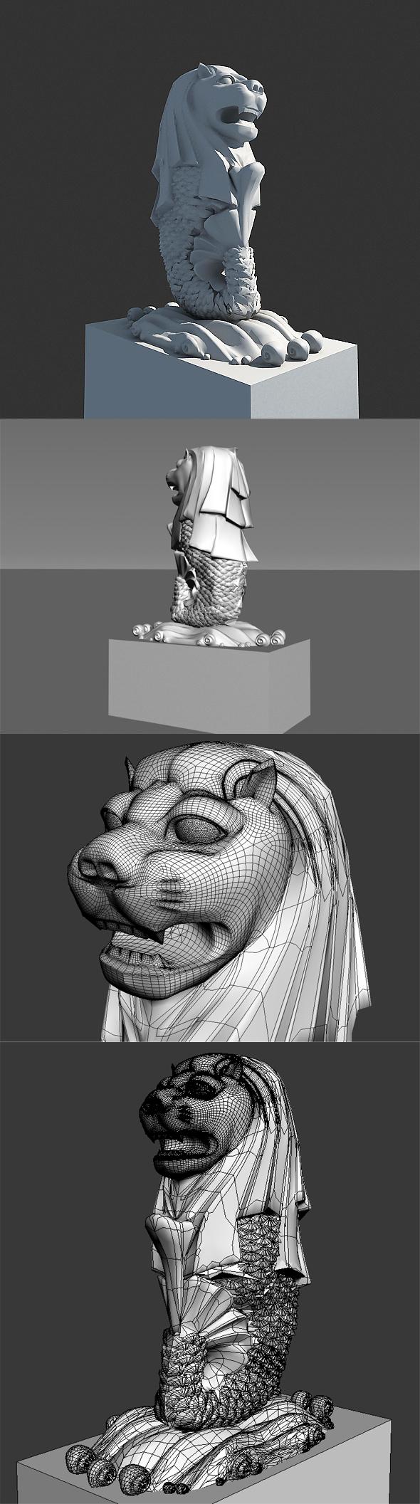 Merlion - 3DOcean Item for Sale