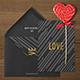Photorealistic Invitation & Greeting Card Mock-Up / Black & White Edition