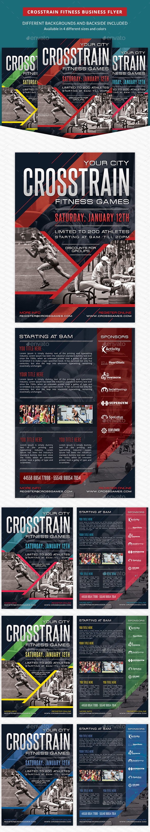 Crosstrain Fitness Gym Promotion Flyer