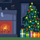 Flat Christmas Fireplace Room Loop
