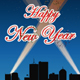 Happy New year with Fireworks - Greeting Card - CREATED IN ADOBE EDGE ANIMATE