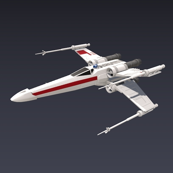 X wing T-65 spaceship - 3DOcean Item for Sale