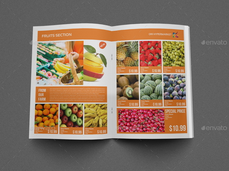 Supermarket Products Catalog Brochure Template By