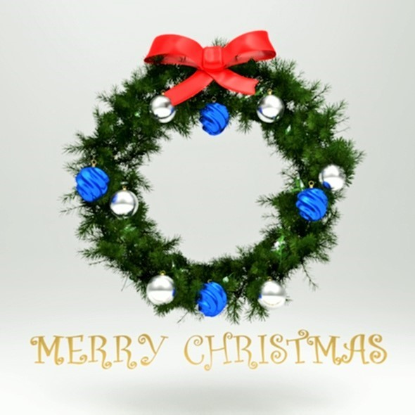 3DOcean Christmas 3D Wreath 14218120