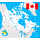 Canada Map, Flag and Roads Illustration