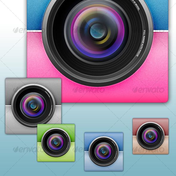 Camera Lens Icon - Media Icons