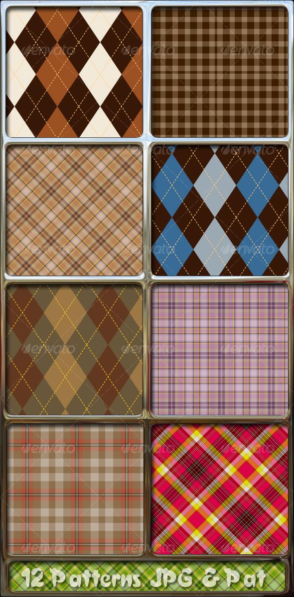 GraphicRiver Argyle-tartan-plaid-fabrics-patterns 56486