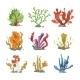 Underwater Plants in Cartoon Style