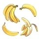 Bananas Set in Cartoon Style