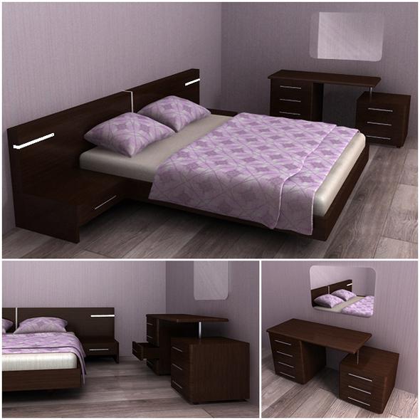 Bedroom furniture - 3DOcean Item for Sale