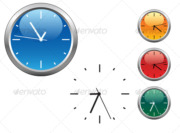 GraphicRiver Office clocks and dial 56496