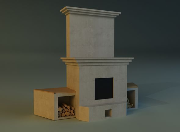 Fireplace 1 - 3DOcean Item for Sale