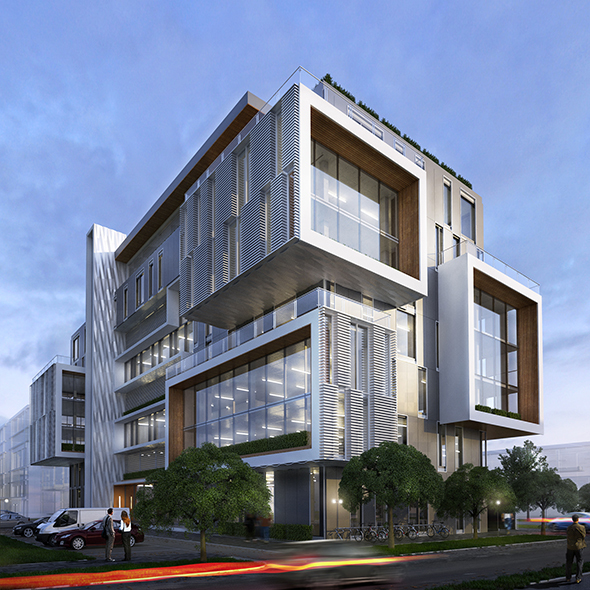 Office building exterior by nazar babiak 3docean for Modern office building exterior design