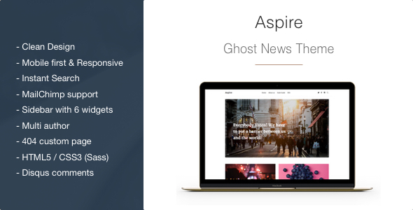 Aspire - News & Magazine Clean Ghost Theme