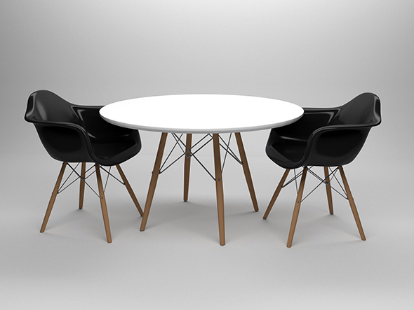 Eames table and chairs - 3DOcean Item for Sale