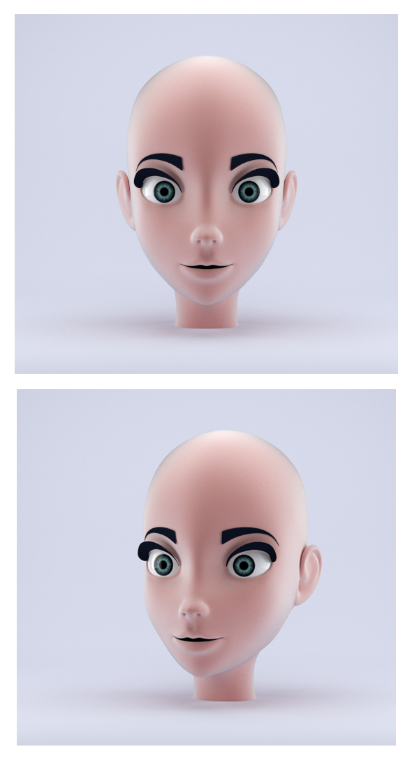 3DOcean Stylized Female Head 14230819