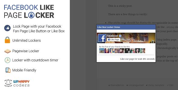 Download Facebook Like Page Locker nulled download