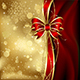 Christmas Background with Decorative Bow