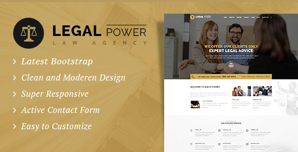 Legal Power - Law Firm HTML Template