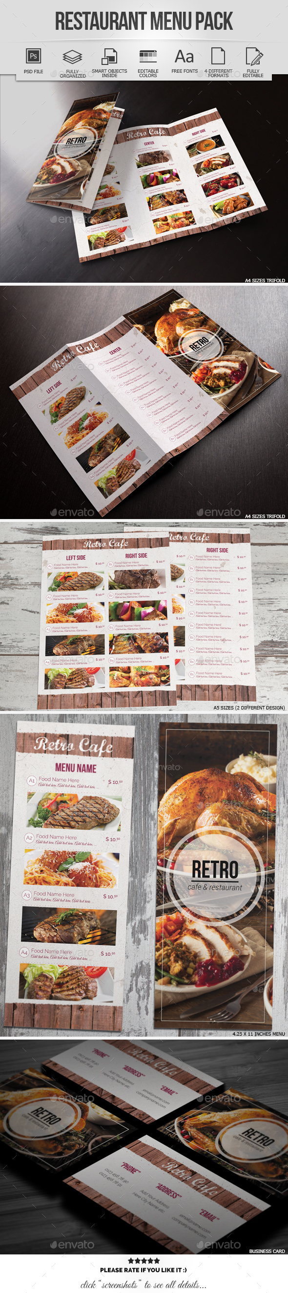 Restaurant & Cafe Menu Pack
