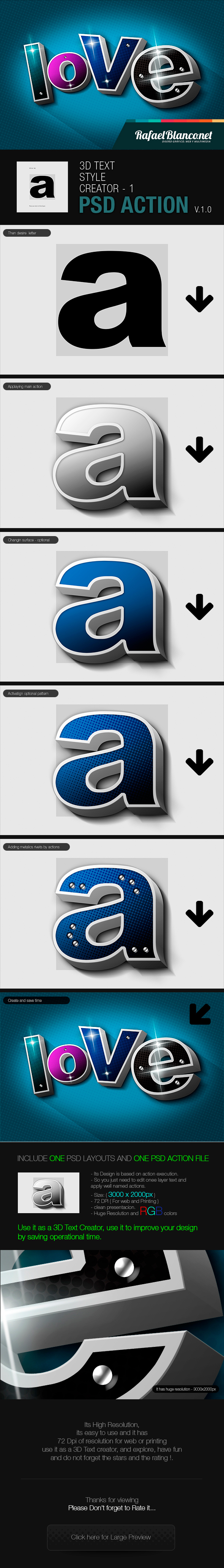 3D Text Styling by Actions - 1