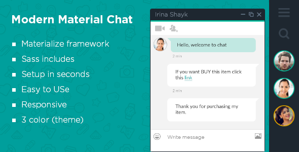 Material Modern Chat - CodeCanyon Item for Sale