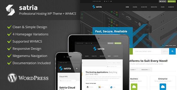 Satria - Professional Hosting WP Theme