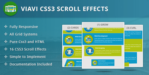 Viavi CSS3 Scroll Effects - CodeCanyon Item for Sale