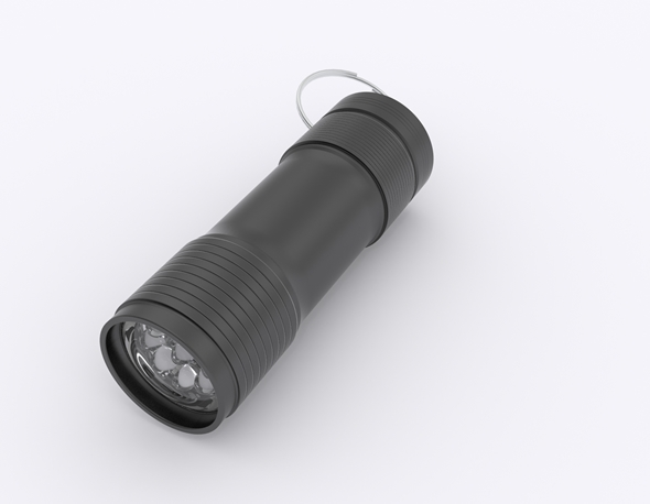 LED Flashlight - 3DOcean Item for Sale