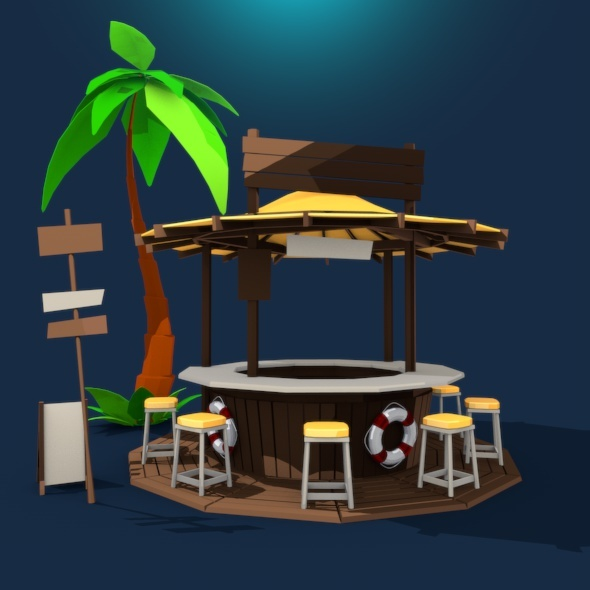 Beach Bar - 3DOcean Item for Sale