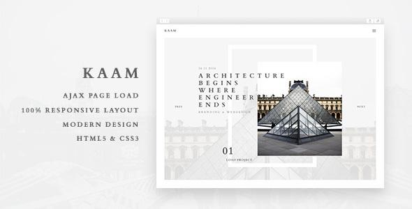 Kaam - Responsive Ajax Creative Portfolio Template