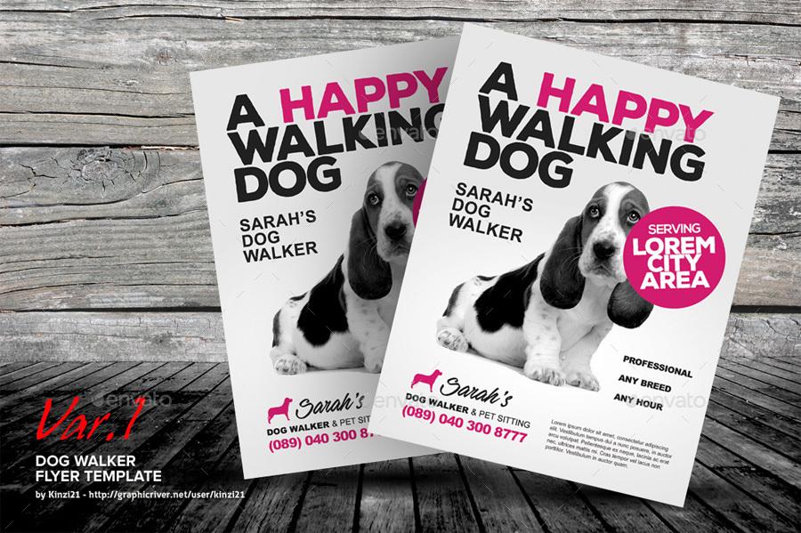 Dog Walker Flyer Templates by kinzi21 | GraphicRiver screenshots/01_graphic-river-dog-walker-flyer-templates-kinzi21.jpg ...