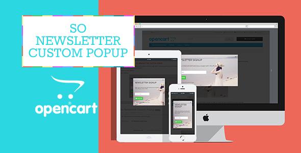 So Newsletter Custom Popup - Responsive OpenCart Module