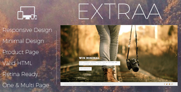 Image of Extraa - Creative Minimal Drupal Theme