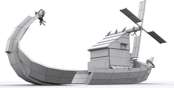 Break Ship Model - 3DOcean Item for Sale