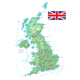 United Kingdom - Detailed Topographic Map