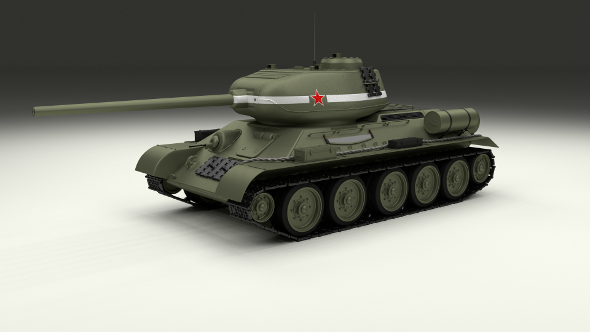 T-34/85 Tank - 3DOcean Item for Sale