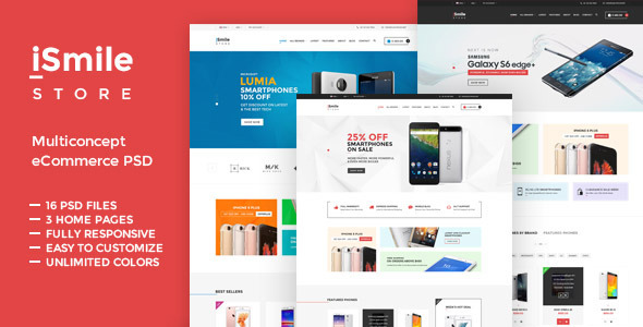 iSmile - Phones Market PSD