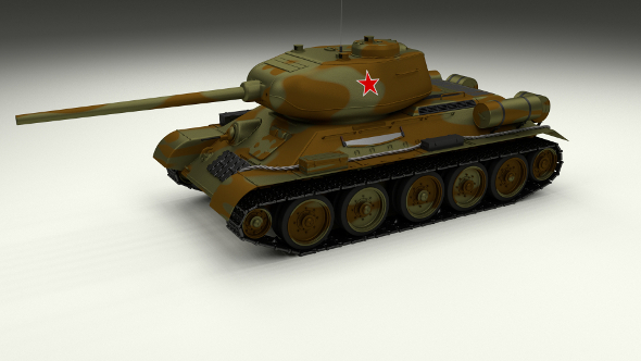 T-34/85 Tank Camo - 3DOcean Item for Sale