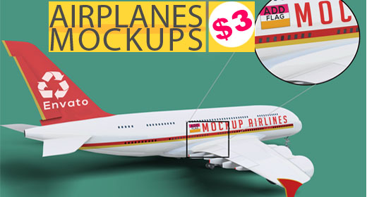 Airplanes Mockup